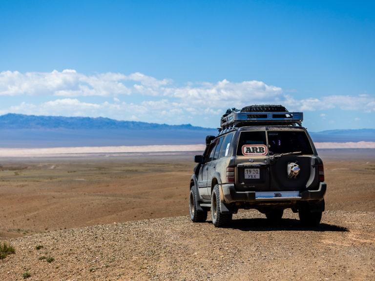 Jeep Wueste Gobi Mongolei