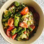 Selbstgemachter Spargel Ei Salat